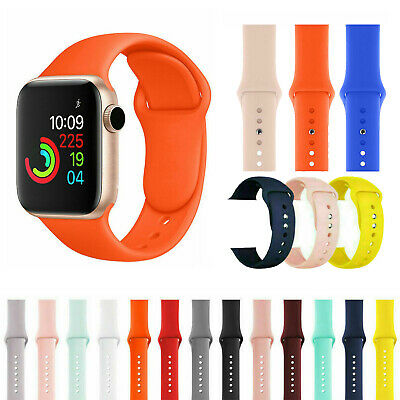 Replacement Silicone Soft Strap Band For Apple Watch Series 5/4/3/2 38/40/42/44