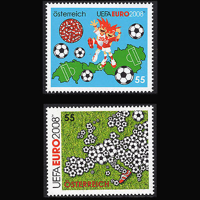 Austria 2008 - UEFA EURO 2008 European Football Championship - Sc 2135/6 MNH for sale  Shipping to India