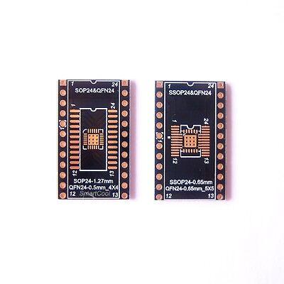 10 Pcs Qfn20 Sop Soic Ssop Tssop24 To Dip24 Adapter Pcb Board Converter Gold B74