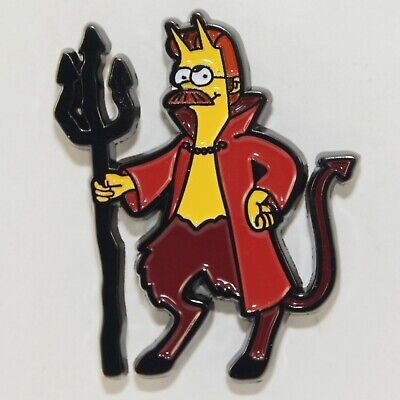 Ned Flanders Devil Enamel Pin Simpsons Brooch Cartoon TV Movie Metal Badge Lapel