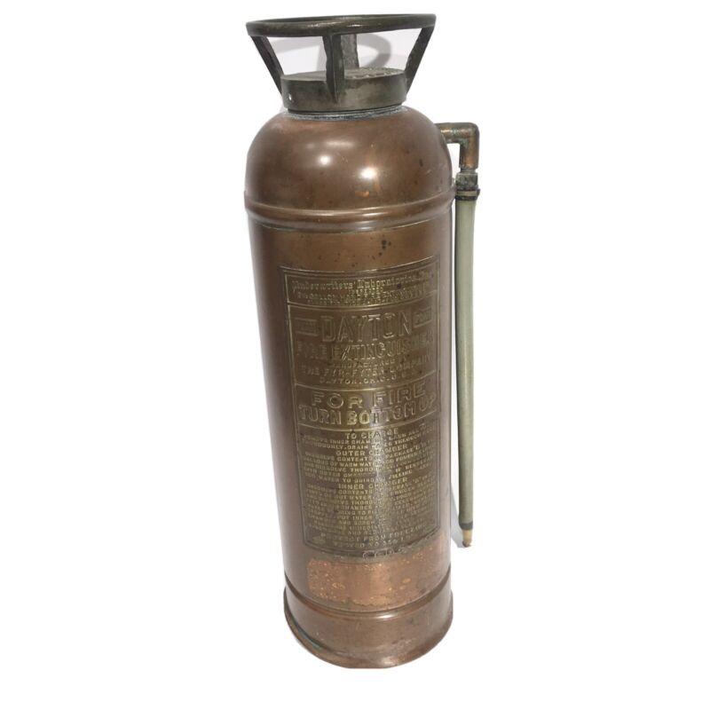 Vintage Dayton Fyr-Fyter Fire ExtinguisherCopper & Brass Foam UL 2.5 Gallon