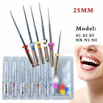 6pcs Dental Niti Super Files Rotary Tip For Endodontic Endo Motor Treatment 25mm