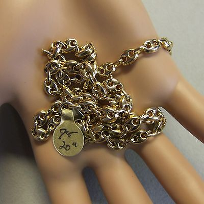 9 ct gold second hand solid anchor chain
