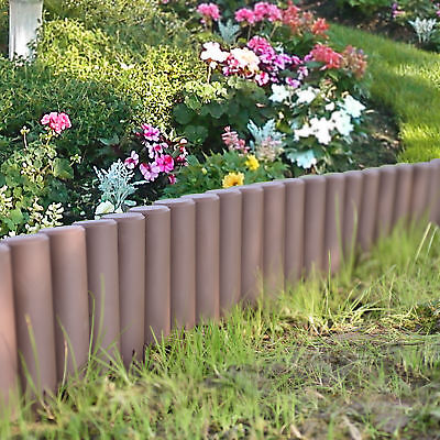 [casa.pro]® 10.8m Palisade Plant Flower Bed Patch Border Edging Brown