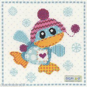 Bothy-Threads-XCZ3-Cotton-Zoo-Patch-the-Penguin-Point-de-Croix-Compte