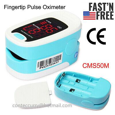 Home Fingertip Pulse Oximeter Blood Oxygen Meter Spo2 Heart Rate Patient Monitor