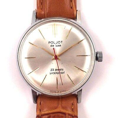 Vintage Poljot Delux WindUp watch w/new brslt Export edtn 23J *US SELLER* #1115