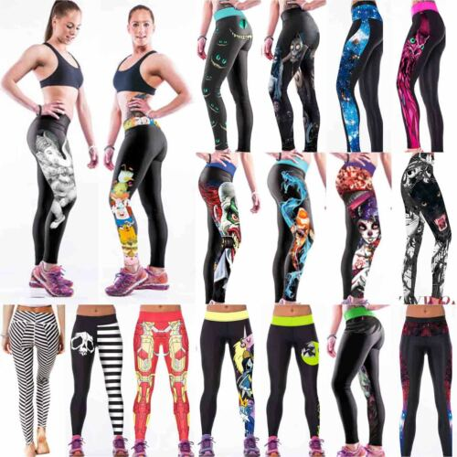 Leggings - Women Yoga Workout Sports Leggings Fitness Pants Casual Gym Stretch Trousers