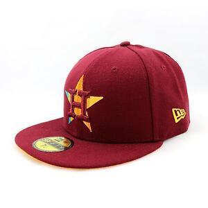 Nueva-Era-Fade-A-Grade-Houston-Astros-Gorra-Ajustada-Gorra-burdeos-91425