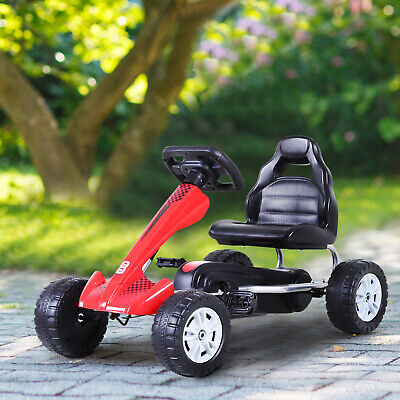 Kids Ride on Pedal Go Kart Racing Style Children Car Outdoor Racer Red