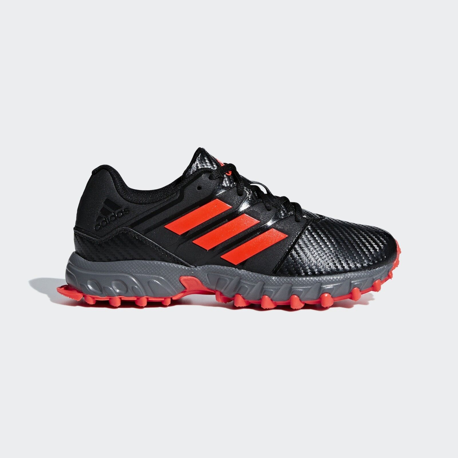 Details about adidas Field Hockey Lux Pro Junior Shoes Kids Boys Girls Black Red Trainers