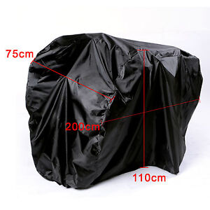 Heavy Duty Waterproof Dual Double Bike Bicycle Rain Dust Resistant Cover Garage