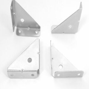 4 X CORNER MOUNTING BRACKET BRACE GUSSET 50 MM ANGLE FIXING CUPBOARD WALL UNIT