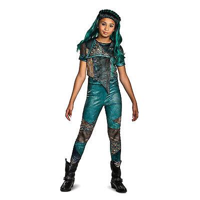 Ursula Costume Kids (Child Girls Disney Descendants 3 Uma Ursula Blue Halloween Costume S M L)