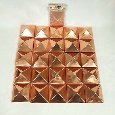 PostPoint 4x4 Polished Copper Decorative Post Top Protector ~ LOT OF 26