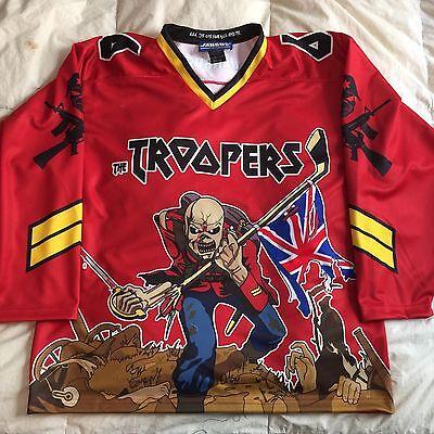 Custom Iron Maiden Eddie Hockey Jersey 666 The Beast XXL Red
