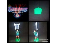 8 Visionaries Knights of the Magical Light Action Figure stands Display Toys