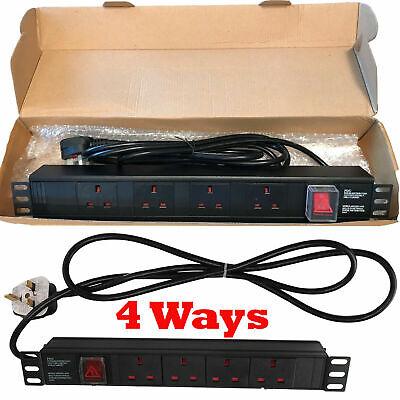 Pdu-power Distribution Unit (13A PDU Power Distribution Unit Extension 4 Way Horizontal Rack Switch Mount)