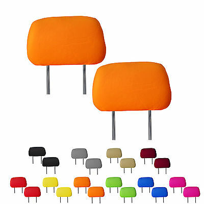 Fabric Headrest Covers Set of 2