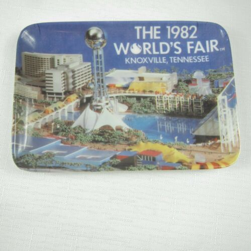 Vintage 1982 Worlds Fair Knoxville TN Sunsphere United States Pavilion Tray Dish