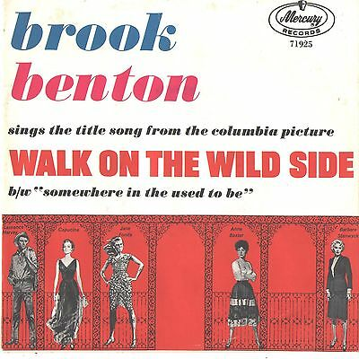 BROOK BENTON--PICTURE SLEEVE + 45---(WALK ON THE WILD