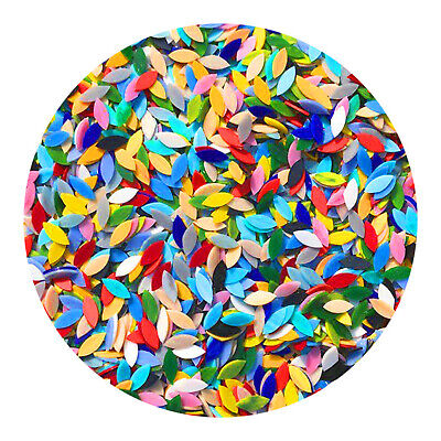 как выглядит 100 Pieces Assorted Colors Mosaic Tiles Stained Glass for Crafts Decoration фото