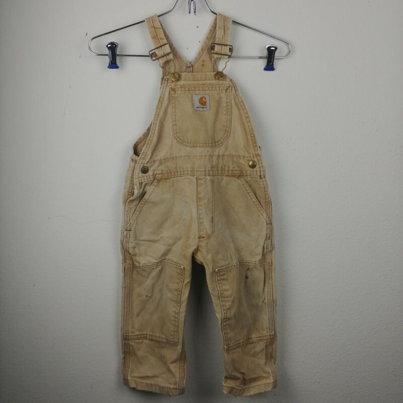 Kids Toddler Vintage Carhartt overalls double knee Size 2T