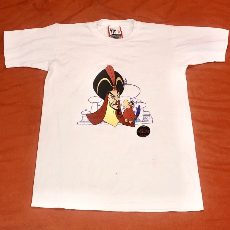 vintage disney villains shirt KIDS LARGE Aladdin Jafar