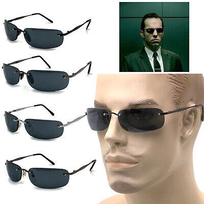 Matrix Style Revolution Agent Smith Sunglasses II Dark Lens Mens Glasses (Agent Smith Glasses)