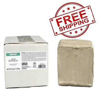 AMACO Air-Dry Modeling Clay, 25 lb, Gray-FREE SHIPPING Amaco Air Dry Clay