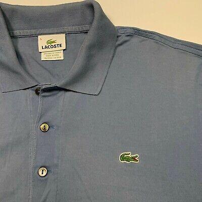 Men's LACOSTE Golf Jersey Polo Shirt in Blue Size: 5 (Medium) Flawed