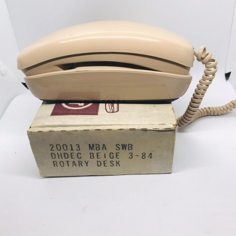 Vintage Southwestern Bell Telecom TRIMLINE Telephone ROTARY DIAL-IN-HAND Lt Pink