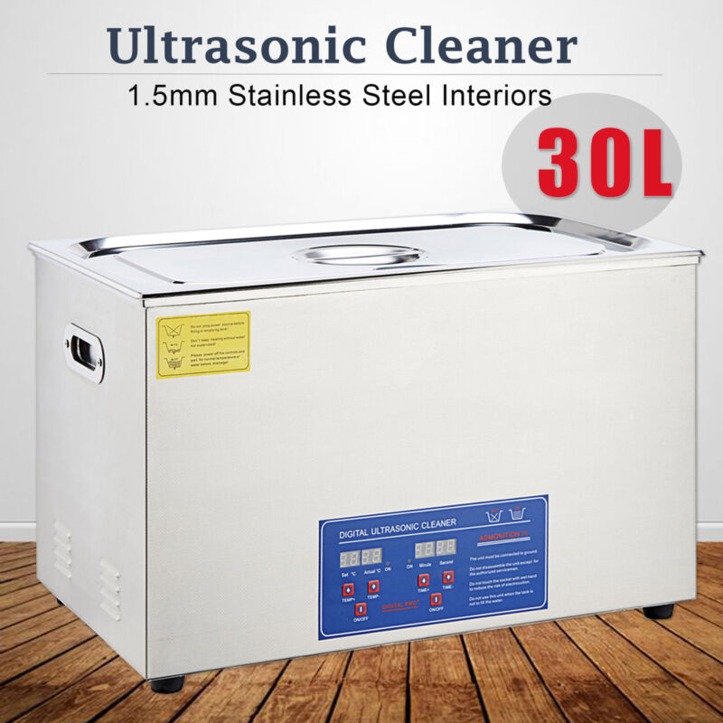 Commercial 30L Stainless Steel Heated Ultrasonic Cleaner Was