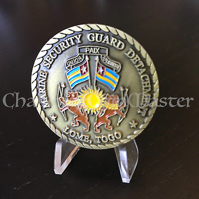 C28 Marine Security Guard Detachment U.S. Embassy Lome Togo Challenge Coin