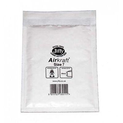 5 JL7 White 370 x 445mm Bubble Padded JIFFY AIRKRAFT Postal Bag Envelope