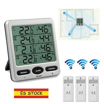 Termómetro Higrómetro Interior Exterior Medidor Temperatura y Humedad 3 Sensor