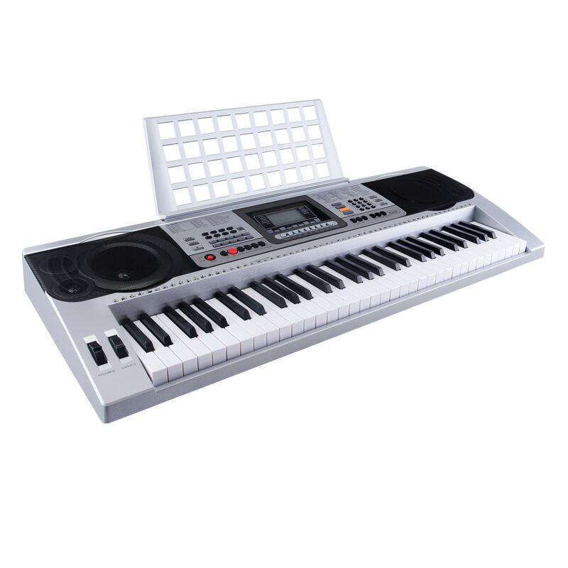 Digital Keyboard Klavier Piano Lern Mikrofon  61Tasten 128 Sounds Rhythmen