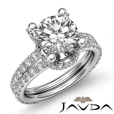 Split Shank Circa Halo Round Diamond Engagement Pave Set Ring GIA H SI1 1.65 Ct