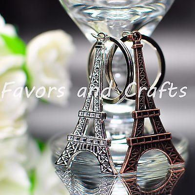 12 Eiffel Tower Keychains Statue Sculpture Paris Decor Metal Wedding - Eiffel Tower Decorations