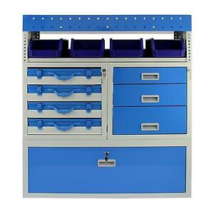 Van Racking Metal Shelving Steel Rack Tool Storage System Lockable Drawers Unit