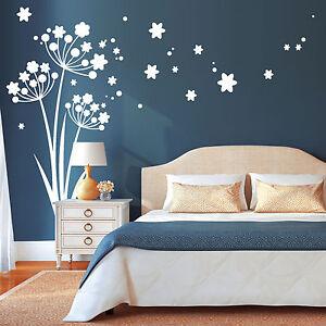 11035-Pegatina-pared-TRES-Diente-de-Leon-con-polen-flores-Motivo-Decoracion