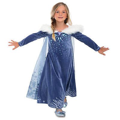 Olaf Costume For Girl (Girls DELUXE ELSA Costume Dress Child Medium 7 8 Disney Olaf's Frozen)