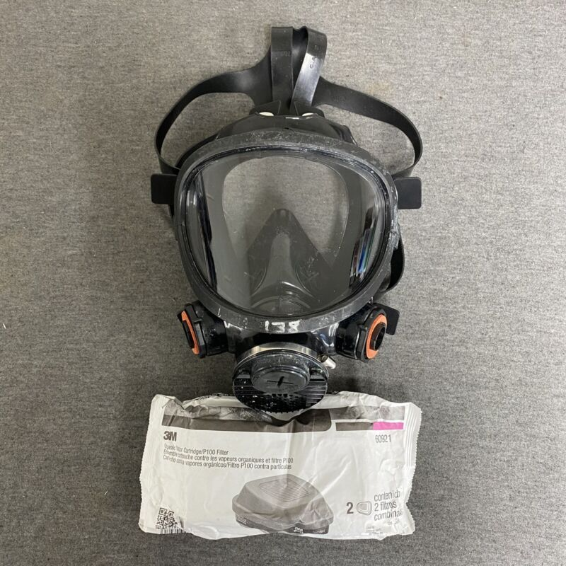 Gas Mask Resperator 7800-s Large W/ 60921 Filters