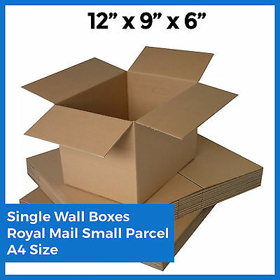 25x Mailing A4 Size Postal Boxes - 12x9x6