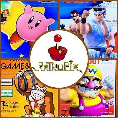 64GB RetroPie Image SD Card - 22000+ Games 40+ Systems - Raspberry Pi 3, 3B, 3B+