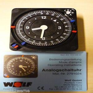 Wolf Zeitschaltuhr Analog 230v Ersatz Uhr Nr.2791024 für Regelung Heizung Wolf