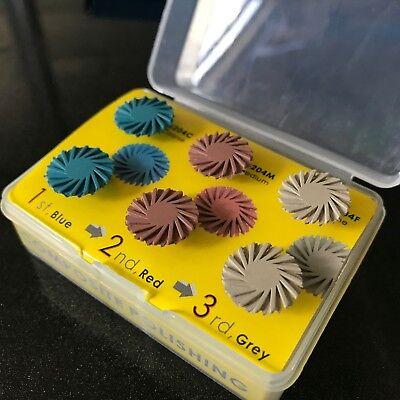 Dental Composite Polishing Disc Kit Spiral Flex Brush Burs 1kit6pcs