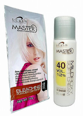 Dcash Hair Dye Colour Plantinum Blonde Blond White Lightener Toner Kit + BLEACH - Hair Lightener Kit