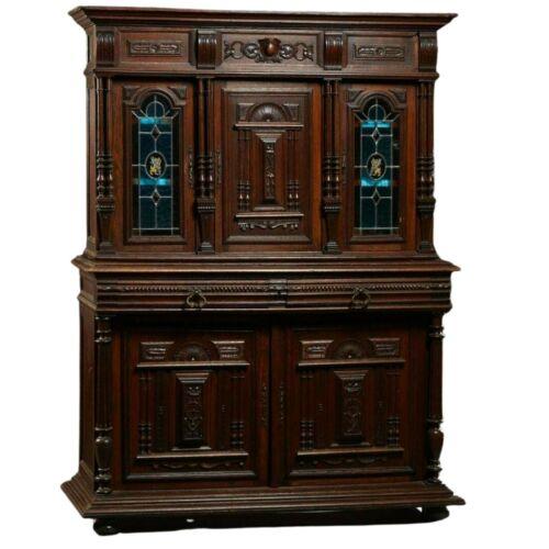 Antique Sideboard / Buffet, French Henri II Style Carved Oak, 1800s, Beautiful!!