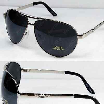 New Mens Women Oversized Pilot Sunglasses Shades Retro Fashion Designer Wrap (Women's Wrap Sunglasses)